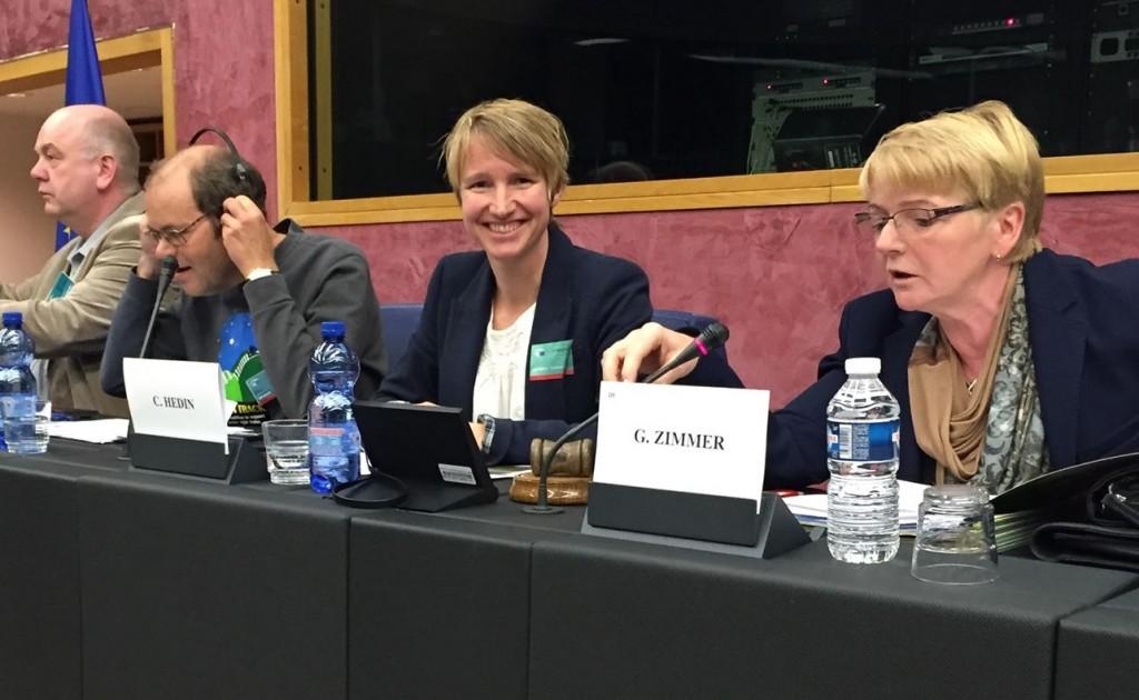 Christina Hedin i Europaparlamentet. Foto Malin Björk
