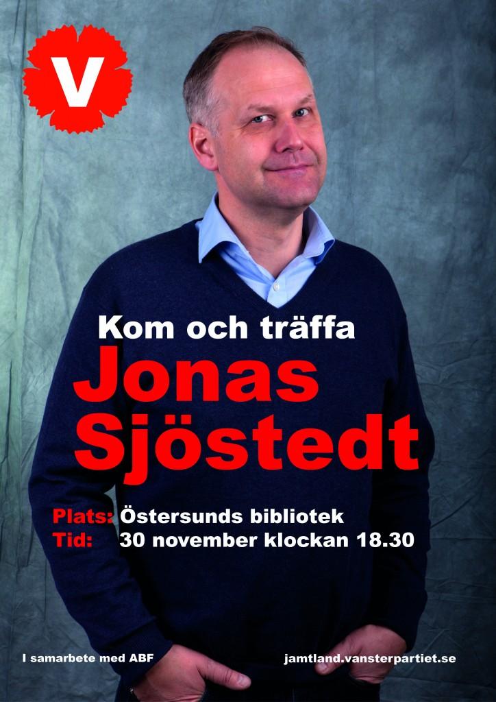 Jonas Sjöstedt november 2015 affisch